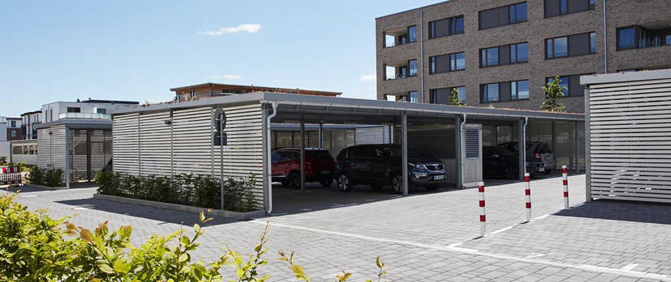 einhausung-carport-holz System Housings with Roof